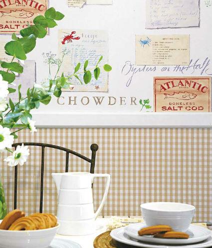Decorar con manualidades de papel - Papel pared cocina ...