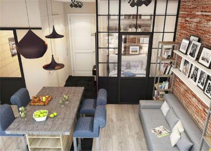 Decorar viviendas de 30 metros cuadrados for Pisos de 30 metros cuadrados ikea