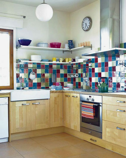 Azulejos decorativos para la cocina for Baldosas para cocinas modernas