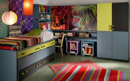 Dormitorios juveniles con camas modulares for Habitaciones compactas