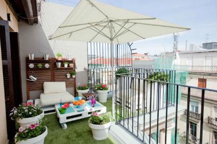 terraza increible