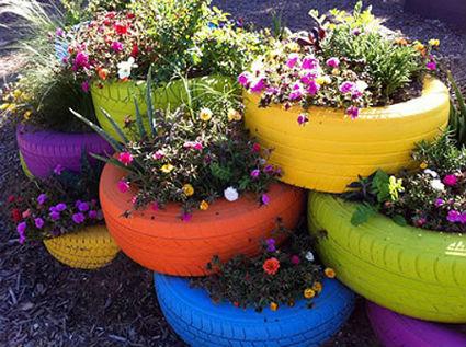 macetas jardin