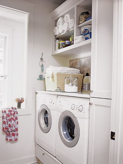 Cuarto de lavado - Laundry storage solutions for small spaces photos ...