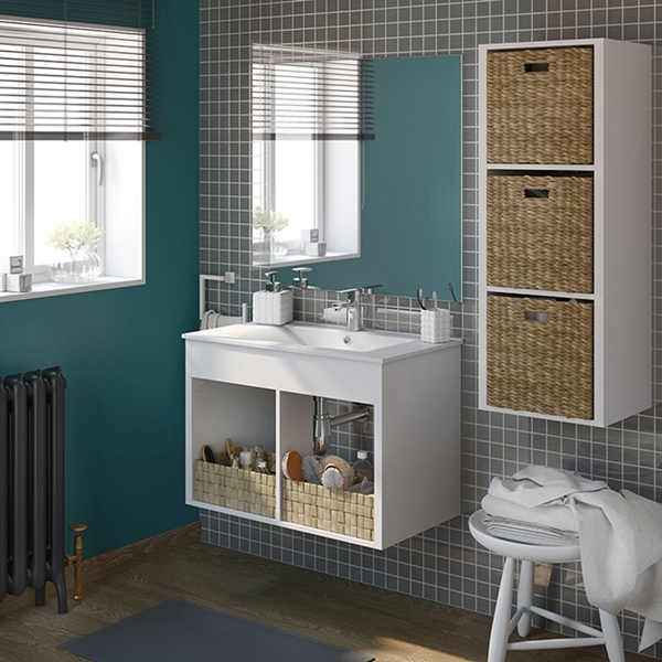 Espacio de almacenaje para baño