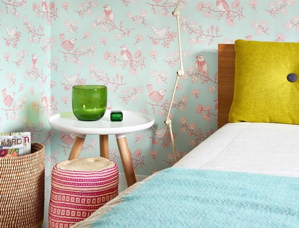 Ideas para dormitorios con papel pintado