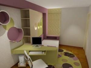 Una habitación femenina y juvenil