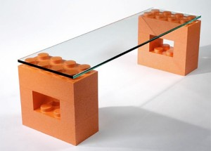 Muebles con piezas de Lego!!