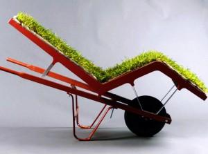 Una silla verde