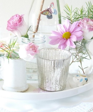 Detalles florales para centro de mesa