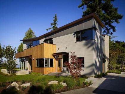 Una casa con vista al exterior