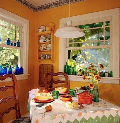 Colores frescos e ideas para el comedor