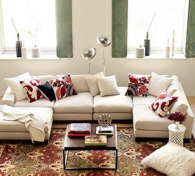 Decoración con alfombras y cojines
