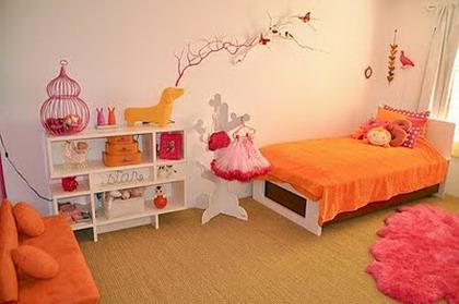Habitaciones en rosa y naranja