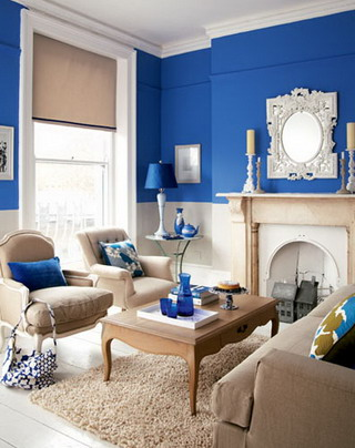 Ideas para decorar la casa de color azul