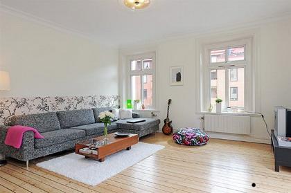 Un pequeño apartamento moderno