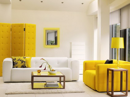Ideas para un living de color amarillo