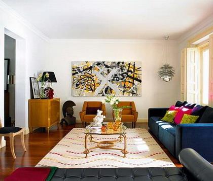 Colores en un piso moderno