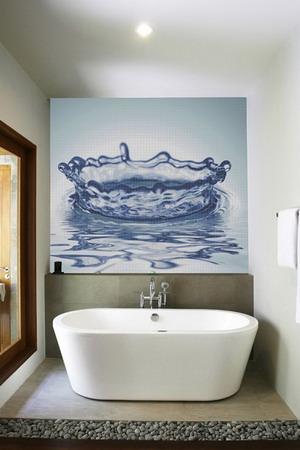 Ba os modernos con murales en 3d for Murales para banos modernos