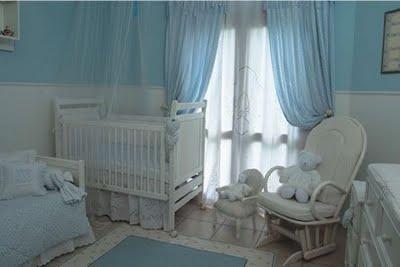 Color celeste for Cortinas habitacion bebe