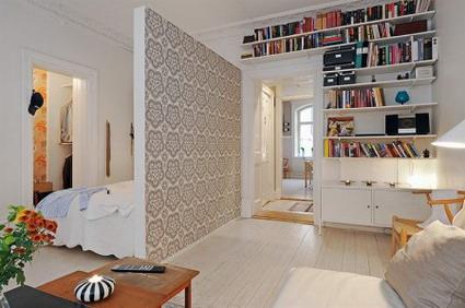Un pequeño piso con estilo y diseño