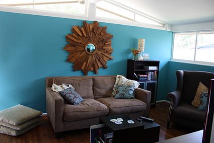 Visita una casa con detalles turquesa