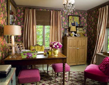 Una oficina con estilo vintage