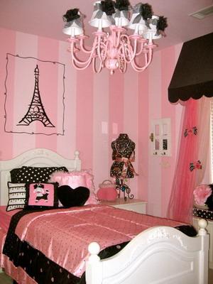 Habitaciones juveniles de color rosa. Parte I