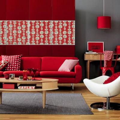 Ideas para un living rojo. Parte I