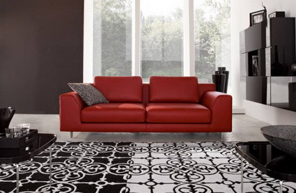 red couches living room ideas para un living rojo parte ii decoactual 12576