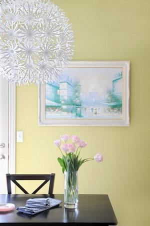 Colores cálidos en el apartamento