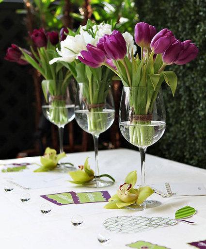 Decorando con flores y frutas