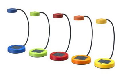 Lámparas de colores para tu mesa de noche