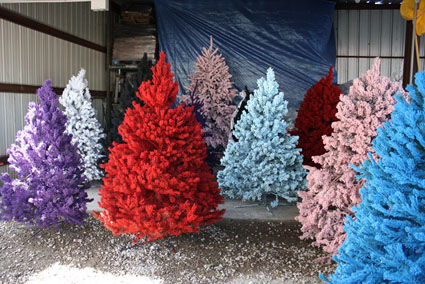 Árboles navideños de colores