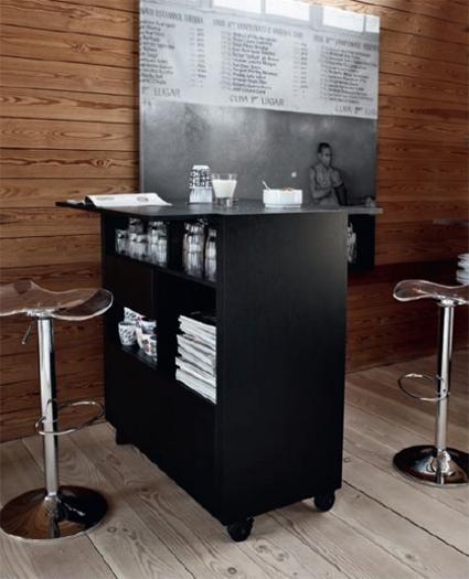 Un mueble bar muy práctico