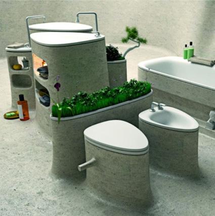 Un cuarto de baño ecológico