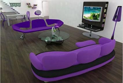 Sofás modernos de colores