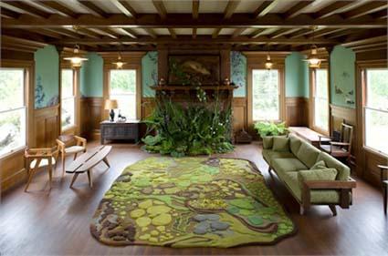 Un salón inspirado en el bosque