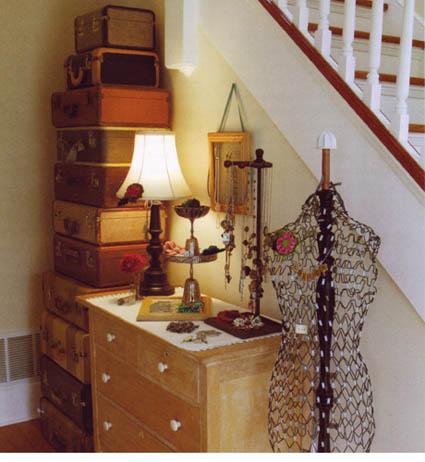Decoración con maletas para tu dormitorio