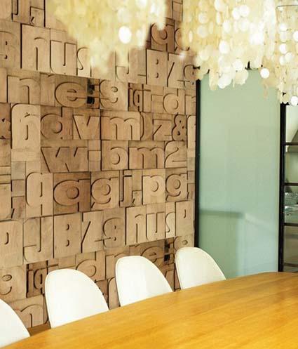 Tipografía en las paredes