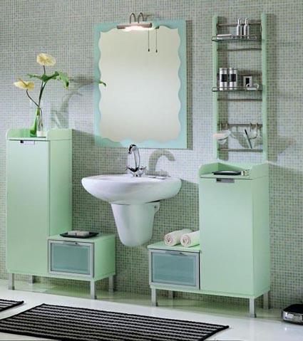 El verde menta en tu baño
