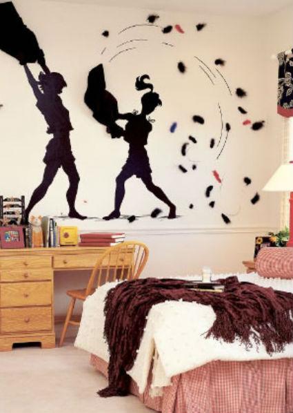 Claves para decorar un dormitorio juvenil - Dibujos pared habitacion infantil ...