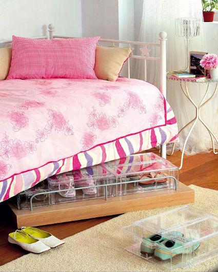 Orden y almacenamiento bajo la cama