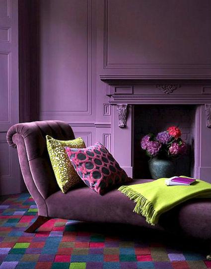 Decoración púrpura