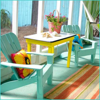 Muebles con mucho color