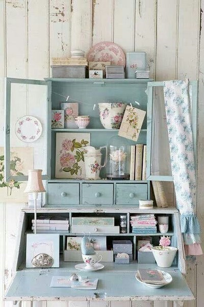 vintage mueble celeste