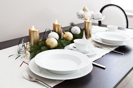 Decoración de la mesa en Navidad