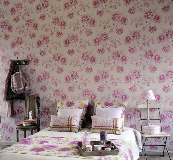 Estampados florales para decorar dormitorios
