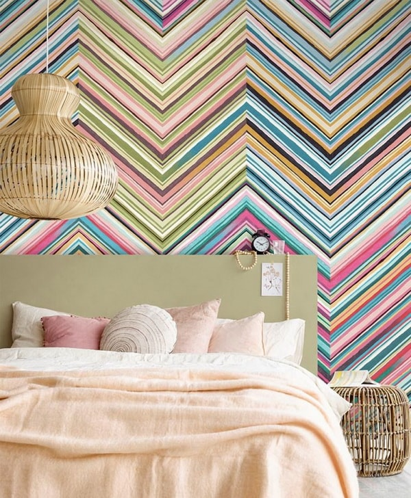Papeles pintados coloridos para dormitorios