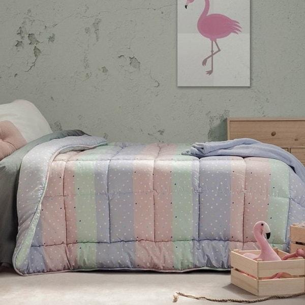 Ropa de cama en tonos pastel