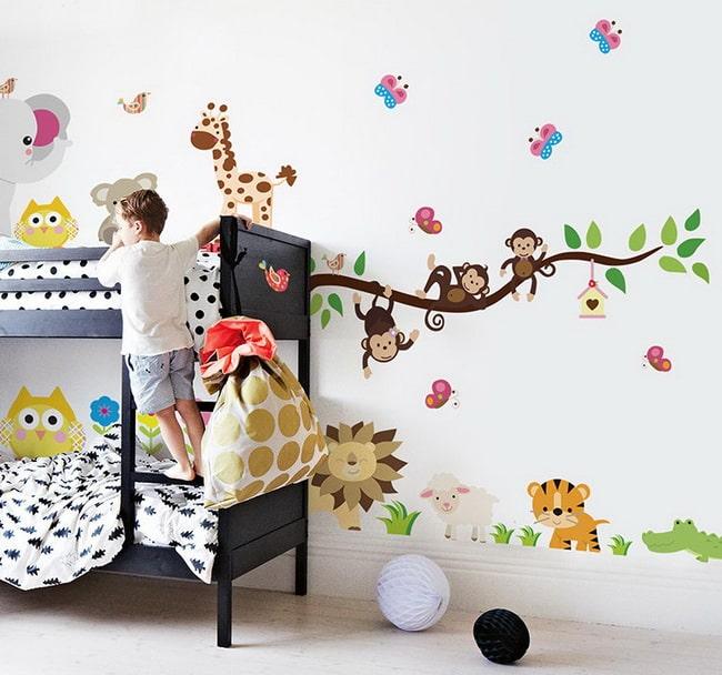 Vinilos decorativos para dormitorios infantiles